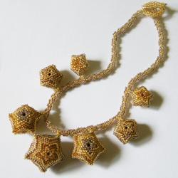 beading,lato,letni,beaded beads - Naszyjniki - Biżuteria