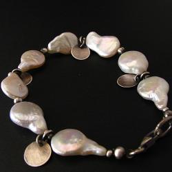 bransoletka,perłowa,biała,delikatna - Bransoletki - Biżuteria