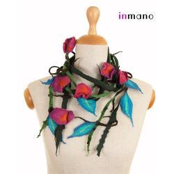 naszyjnik,zamotka,filc,biżuteria,wełna,jedwab - Naszyjniki - Biżuteria
