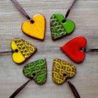 Ceramika i szkło kolorowe,energetyczne,zawieszki,serduszka