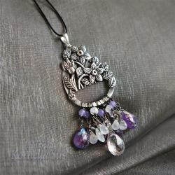 romantyczny,roślinny,ażurowy,kwiatowy - Wisiory - Biżuteria