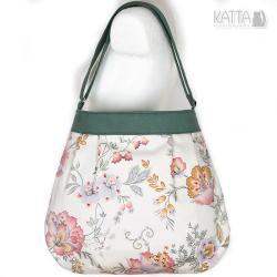 flowers bag,na lato,zielona,kwiaty,spring, - Na ramię - Torebki