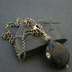 srebro,naszyjnik,czarny,oryginalny,oksydowany,tekt - Naszyjniki - Biżuteria
