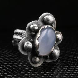 pierścień z chalcedonem,chalcedon,wire-wrapping - Pierścionki - Biżuteria