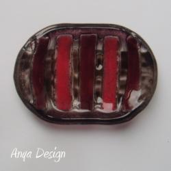 mydelniczka,szkło,fusing,fioelt,czerwień - Ceramika i szkło - Wyposażenie wnętrz