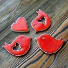 Magnesy na lodówkę romantyczne,ptaszki,urocze