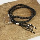 Bransoletki bransoleta,srebro,sznurek woskowany