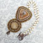 Naszyjniki haft koralikowy,agat,koral,elegancki,stylowy