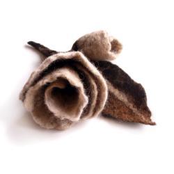 filcowa,broszka,brosza,róża,róże,kwiatowa,prezent - Broszki - Biżuteria