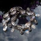 Komplety komplet srebrny z kryształem górskim