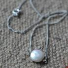 Naszyjniki perła,srebro,naszyjnik