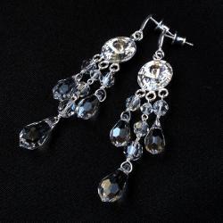 okazał,błyszczące kolczyki nie tylko na ślub - Kolczyki - Biżuteria