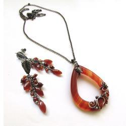 kobiecy,romantyczny,jesienny,ognisty,zmysłowy - Komplety - Biżuteria