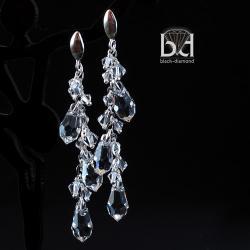 kolczyki nie tylko na slub,eleganckie i ruchome - Kolczyki - Biżuteria
