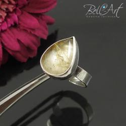 pierścionek,kwarc z rutylem,złoty,kobiecy - Pierścionki - Biżuteria