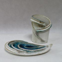mydelniczka,zestaw lazienkowy,design,ceramika - Ceramika i szkło - Wyposażenie wnętrz
