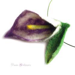 kalia,kwiat,naszyjnik,obroża,pudrowy,duży,wisior, - Wisiory - Biżuteria