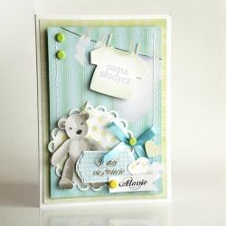kartka,chłopiec - Kartki okolicznościowe - Akcesoria