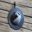 Wisiory wisior srebro metaloplastyka agat botswana