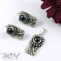 komplet,perły,elegancki - Komplety - Biżuteria