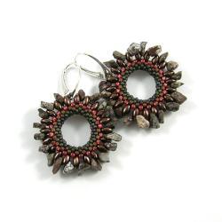 kolczyki koła,kolczyki koralikowe - Kolczyki - Biżuteria
