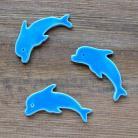 Ceramika i szkło morskie,delfin,spękane
