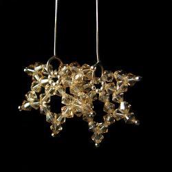 liście,srebro,Swarovski,golden shadow,długie, - Kolczyki - Biżuteria