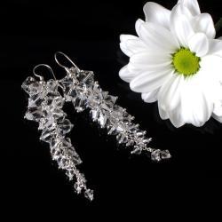 długie kolczyki ślubne wieczorowe grona - Kolczyki - Biżuteria
