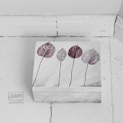 anamarko,herbatnica,liście,pudełko malowane - Herbatnice - Wyposażenie wnętrz