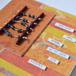 kartka urodzinowa,liczydło,sentencja - Kartki okolicznościowe - Akcesoria