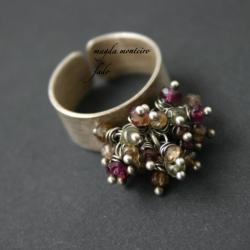 srebro,zielony,srebrny,pierścionek,fado,szafir - Pierścionki - Biżuteria