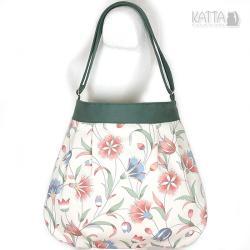 kwiaty,na lato,summer bag,flower,jasna - Na ramię - Torebki
