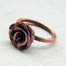 Pierścionki miedziany,pierścionek,metaloplastyka,róża
