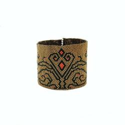 bransoleta koralikowa,peyote - Bransoletki - Biżuteria