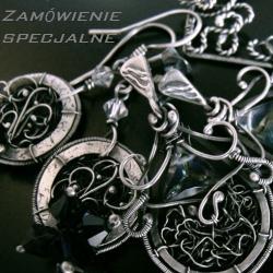 srebro,delikatne,kobiece,romantyczne,vintage,retro - Komplety - Biżuteria