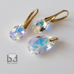 komplet swarovski z kryształami aurora boreale - Komplety - Biżuteria