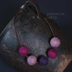 filco,srebro,fiolet - Naszyjniki - Biżuteria