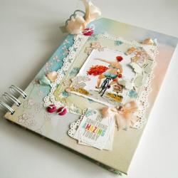 notes,uśmiech,optymistka,zeszyt - Notesy - Akcesoria