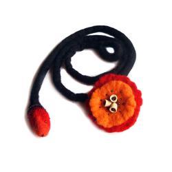 kwiaty,dred,naszyjnik,broszka,odważny,prezent - Naszyjniki - Biżuteria