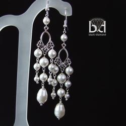 kolczyki z perłami Swarovski - Kolczyki - Biżuteria