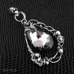 swarovski,kryształ swarowskiego,srebro,duży wisior - Wisiory - Biżuteria