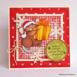 kartka,kartka świąteczna - Kartki okolicznościowe - Akcesoria