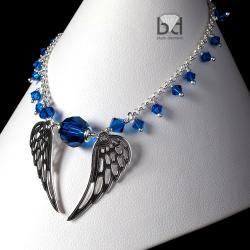 skrzydła bransoletka z kryształami Swarovski - Bransoletki - Biżuteria