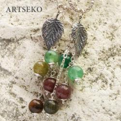 Kolczyki srebrne z kwarcem Artseko - Kolczyki - Biżuteria