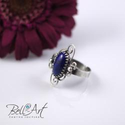 pierścionek,lapis lazuli - Pierścionki - Biżuteria