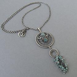 romantyczny,delikatny,owijany, - Naszyjniki - Biżuteria
