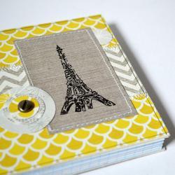 notes,patchwork,wieża Eiffla - Notesy - Akcesoria