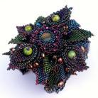 Bransoletki haft koralikow,beading,plecionka,ekskluzywna,kwiat