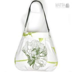 kwiatowa torba,w kwiaty,zielony wzór,na skos,lato - Na ramię - Torebki