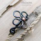 Pierścionki minimalistyczny pierścionek z motywem roślinnym